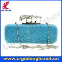 Free shipping!Hot sale fashion an eagle switch design 5 colors snake PU evening bag clutch bag for lady