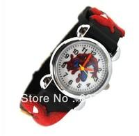 2013 Black Spiderman 3D Cartoon Children Boys Kids Quartz Watches Wrist Watches Gift