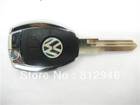 Free Shipping whosale For  Volkswagen VW transponder key shell KS23