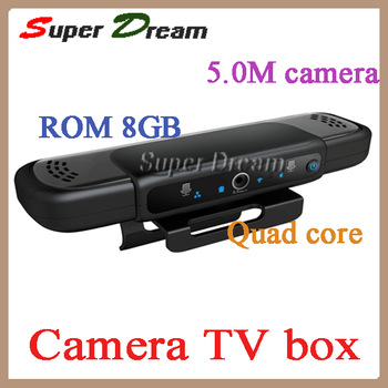 (HD2,EU3000)Quad Core Android 4.2 All winner A31 5.0MP Camera Dual MIC 1080P HD Skype Bluetooth Webcam Mini PC HD5 Google TV box