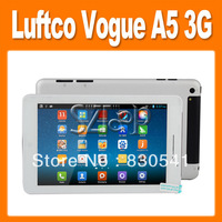 FREE shipping LUFTCO Vogue A5 MTK8389 Quad Core 3G Phone 7 Inch IPS Screen Android 4.2 Tablet PC Dual Cameras (0401030)