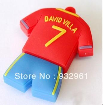 Wholesale Hot Cheap Enough Cartoon Jersey 4GB 8GB 16GB 32GB 64GB USB 2.0 Flash Memory Stick Drive Thumb/Car/Pen Gift