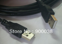 20pcs/lot  USB2.0 Cable 3.0m USB A Male to USB A Male black color Free shipping