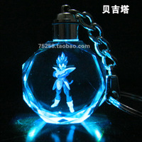 Free shipping DRAGON BALL 2D Vegeta Super Saiyan Model Keychain key Accessories