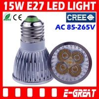 DHL/EMS Shipping,100X Ultra Bright Cree E27 Led 15W Bulb E27 Led Lamp Led Light Led Downlight AC85-265V CE/RoHS Warm/Cool White