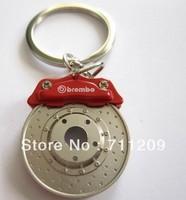 Racing Disc Brake Keychain RED CALIPER KEY FOB ROTOR