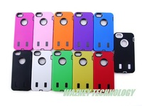 DHL free shipping*silicone +pc case Hard Hybrid Case Snap On Heavy Duty Phone Cover for iphone 5 case luxury *100pcs/lot