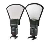 2 in 1 silver/white Light Reflector diffuser softbox for Canon 580EX II 430EX II 420EX flash