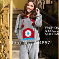 2013 New listing counter genuine men and women pajamas coral velvet leisure suit fashion cartoon pajamas home service package