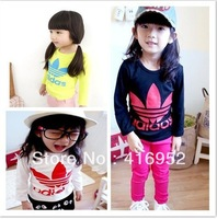 100% Cotton New arrive! 2013 Autumn Winter models Boys and girls   child Long-sleeved T-shirt