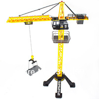 Larger Engineering Crane Remote Control 6 Channel Simulation Tower Crane 360 degree Rotate Crane toys