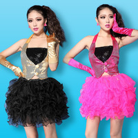 2013 sexy ds hip-hop paillette vest clip costumes costume female jersey  Free shipping