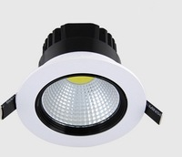 Plastic COB 1500lm 15W Led Light Downlight AC 100-240V