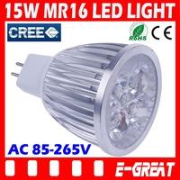 100PCS/LOT Ultra Bright Cree MR16 Led 15W Bulb MR16 Led Lamp Led Light Led Spot light AC/DC12V Warm/Cool White,DHL/EMS Shipping