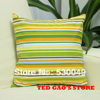 Free Shipping 16''X16'' 2pcs 8Designs Color Stripe Canvas Pillow Cushion Cover For Sofa or Bed O006