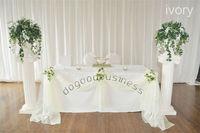 Free shipping 1 ivory 5M*1.35M Sheer Organza Swag DIY Fabric Wedding Party Banquet
