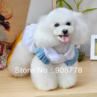 The new dog clothes pet apparel pet supplies dog skirt pet washed denim skirt