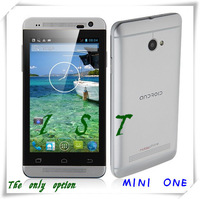 "Free shipping Mini One Silver add gift MTK6572 1.3g Dual -Core Android 4.2 WCDMA 4.0"" Screen, Wi-Fi, FM and GPS Mobile phone-IST"
