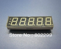 "7 Segment LED Digit Display: 0.36"" 5 DIGIT Super Red 7-Segment Common Cathode 13P LED display"