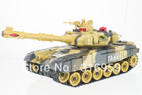 Free Shipping Robot Tank Remote Control Army Fight Tank with Colorful Flashlight and Music Caterpillar Tank toys