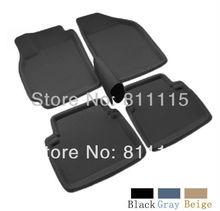 Car foot mat for Hyundai Elantra step mat, auto foot mat, free shipping, three colors, left-steering ONLY! 3 Color Car Floor Mat(China (Mainland))