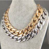 (min mixed order $9) Fashion Gold and Silver Long Chain Necklace Designs for Women