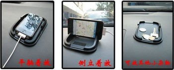 500PCS/LOT! FREE shipping by DHL PU mobile phone holder,car anti slip mat,GPS navigation holder/ Magic Sticky