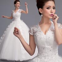 Cii new new word shoulder Princess Bride Qi trailing wedding dress pregnant women big yards customization