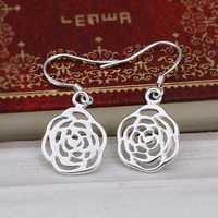 Hot Sell!Wholesale 925 silver earring,925 silver fashion jewelry Earrings,Inlaid Stone Zircon Drop Earring SMTE425