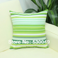 Free Shipping 16''X16''  2pcs 6Designs Stripe Canvas Pillow Cushion Cover For Sofa or Bed O005