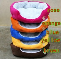 Free Shipping Hot Selling! Cashmere pet nest Dog sofa cushion bed Cat litter super warm Kennel, 5 color S/L