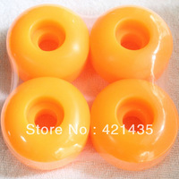 Freeshipping 97A Yellow Color Speed Skateboard Wheels PU Skateboard Wheel 52mm Skate Wheel Skate