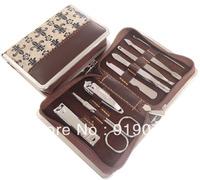 MC 8 IN 1 Beauty Lady Nail Care Kit Manicure Set Nail Scissors Clipper Pedicure Manicure Suit Portable Case Free Ship