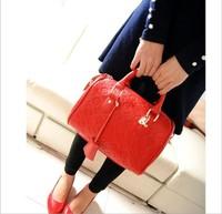 Bags 2014 strengthen edition women's handbag vintage embossed black BOSS portable bucket handbag messenger bag handbag brand