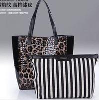 2014 Euramerican Fashion leopard Women Leather Handbags Totes Designer Brand women messenger bags Vintage bag shoulder bags tote