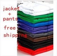 New brand Unisex sportswear women men sport suits jersey long sleeve tracksuit jacket pants hoodies sweatshirts with stripes