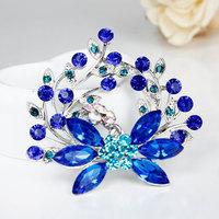 Free Shipping Women Christmas Gift Fashion Alloy Brooch Silver Flower Crystal Jewelry Rhinestone Brooch Women Brooch For Wedding