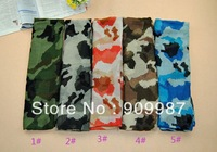 free shipping ladies cotton printe army camouflage floral head hijab/muslim long scarf/scarves.180*100cm.12pcs/lot.