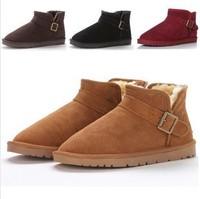 2013 women's snow boots male shoes cow muscle outsole cowhide waterproof 5854 5859 short-leg boots