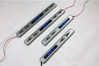 Blue light LED Peugeot 408 High quality stainless steel Scuff Plate/Door Sill