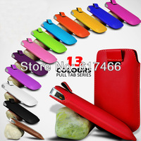 Fashion Luxury pu leather pull tab pouch skin case For Iphone 5C Fits for iPhone 5c mix style