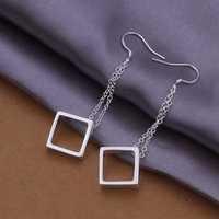 Hot Sell!Wholesale 925 silver earring,925 silver fashion jewelry Earrings,Hanging Box Drop Earring SMTE336