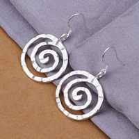 Hot Sell!Wholesale 925 silver earring,925 silver fashion jewelry Earrings,Round thread Earring SMTE353