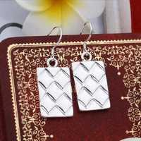 Hot Sell!Wholesale 925 silver earring,925 silver fashion jewelry Earrings,Long Square Drop Earring SMTE376