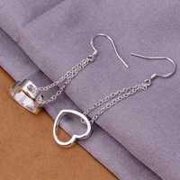 Hot Sell!Wholesale 925 silver earring,925 silver fashion jewelry Earrings,Hanging Hollow Heart Earring SMTE346