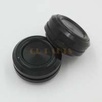 4PCS Black CNC Machined Solid Aluminum Amplifier Feet Speaker DAC CD Player DVD PC Chassis Pad Stand 30x14mm