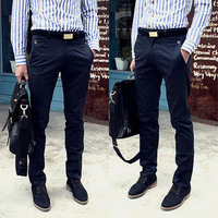 Free Shipping 2013 new men clothing Korean Styles Fashion Men's pants, Casual straight leisure trousers