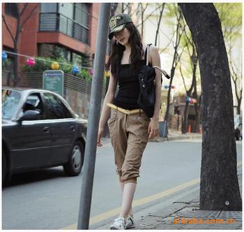 2012 Korean version en color comfortable cotton pencil pants feet pants casual pant 8064 Agency issued