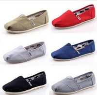 New Arrival Women &men fashion solid color Canvas flats .muti color free shipping