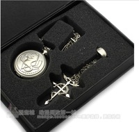 Fullmetal Alchemist pocket watch pocket watch horse three-piece steel refining.